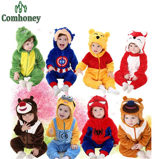 Fair price Baby Rompers Spiderman Minions Hooded Fleece Baby Boys Clothes Captain America Infant Baby Costumes Winter Ropa Bebe Jumpsuit just only $18.89 with free shipping worldwide  #babygirlsclothing Plese click on picture to see our special price for you