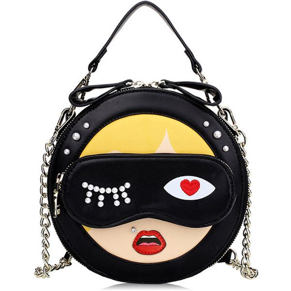 Cartoon Pattern Round Tote Bag ($62) ❤ liked on Polyvore featuring bags, handbags, tote bags, cartoon purse, round handbags, comic book, round purse and tote hand bags