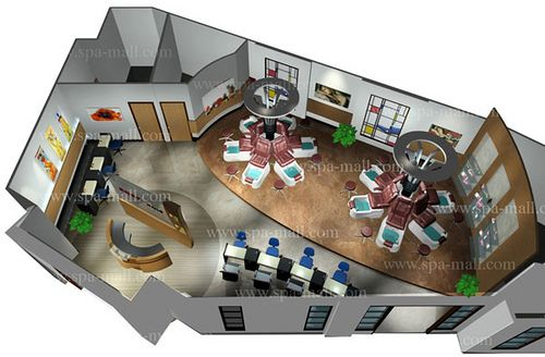 8 best spa layout images on pinterest spa design beauty salons and salon design - Plan 3d salon ...