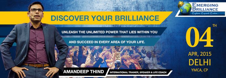 Discover Your Brilliance With Amandeep Thind! Are you ready to discover what makes you truly unique? Book your tickets on Bookmyseats.co.in and unleash the great power in you.