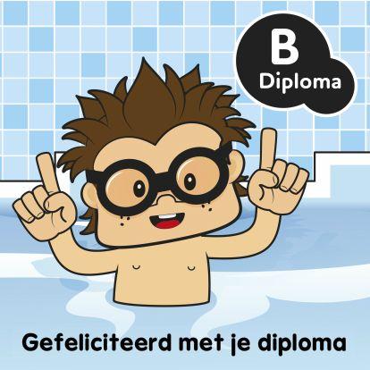 Geslaagd kaarten - Gefeliciteerd jongen zwemdiploma 3