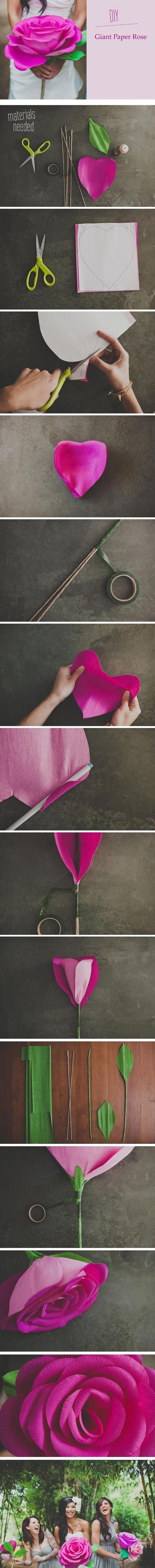 Comment fabriquer une rose géante en papier