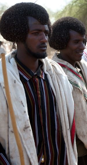 Those who are more of the descendants of the ancient Egyptians now reside in the Afar and Beja people in East Africa of Ethiopia and Sudan. These places were once a part of Nubia and Upper Egypt. (Wigs were also made from Nubian hair).