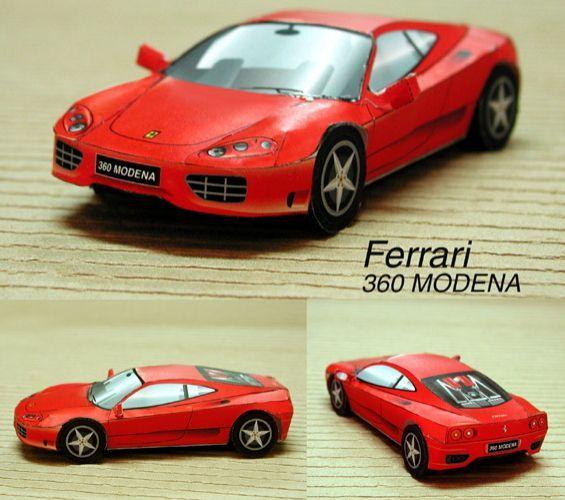 Ferrari 4 Seater: This Paper Car Is A Ferrari 360 Modena, A Two-seater