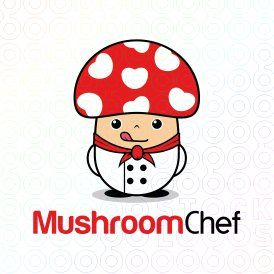 Mushroom Chef logo (This logo is ideal for food & drink company and any related businesses).