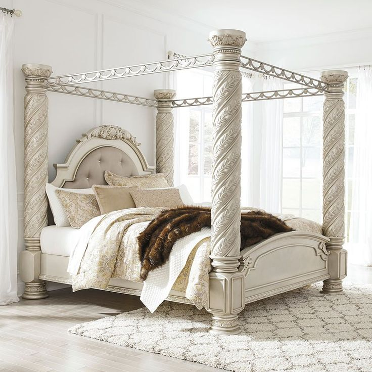 Cassimore Canopy Bed in 2020 King size canopy bed