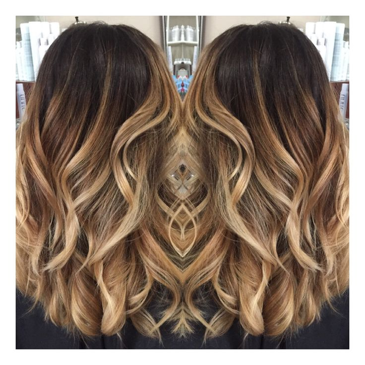 Seamless subtle ombre dark ombre contrast ribbons Balayage technique by Natalie Solotes @nataliesoloteshair Guy Tang