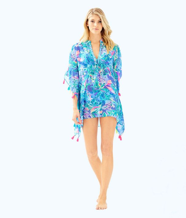 Lilly Pulitzer NWT Harbour Island Pintuck Tunic Multi Early Bloomer $128
