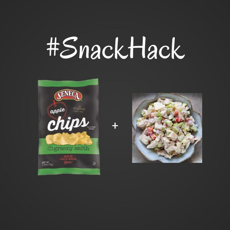 Skip the bread and make a crunchy chicken salad sandwich with Seneca Apple Chips. #SnackHack