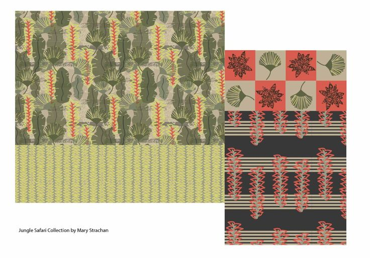 Jungle Challenge from The Textile Design Lab by Mary Strachan http://www.spoonflower.com/profiles/mezzones?sub_action=designs