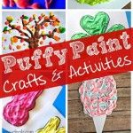 Easy Puffy Paint Crafts for Kids