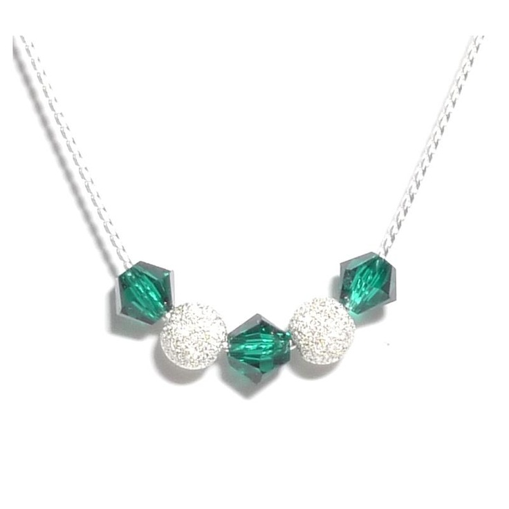 Aquaruby Emerald Crystal Necklace