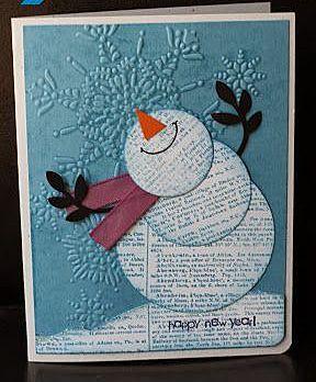Очаровательная открытка со снеговиком - лук пользователя Лариса Косихина. Фото находится в альбоме Новогодние открытки.
