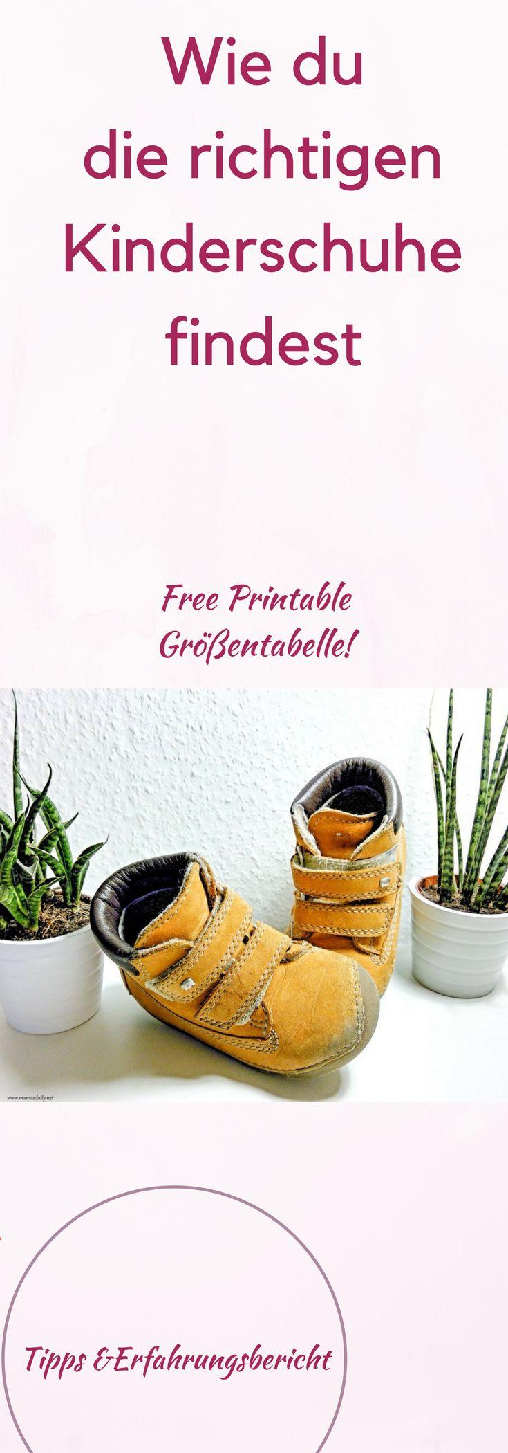 Wie du den richtigen Kinderschuh findest! Free Printable Größentabelle, für die ersten Schuhe! Experteninterview und Ratgeber, Erfahrungsbericht und Tipps. #mama #kinderschuhe #familie