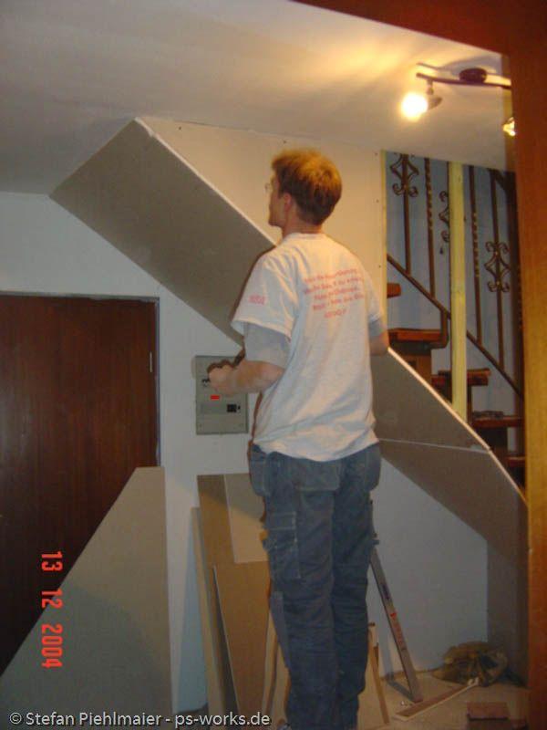 Verkleidung Einer Offenen Treppe Offene Treppe Treppe Treppe Renovieren