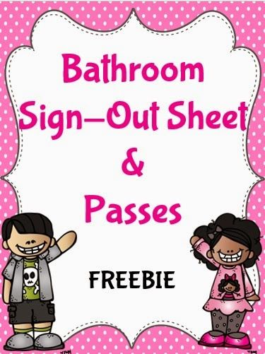 Bathroom Sign Classroom Best 25+ Bathroom Sign Out Ideas Only On Pinterest    Sign Out