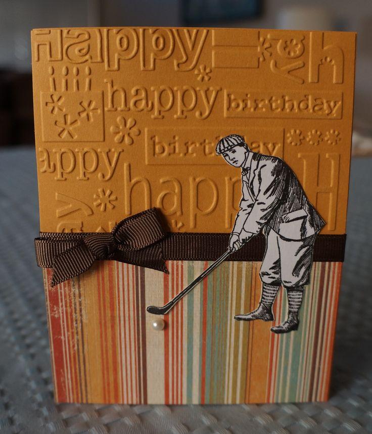 Men's Golf themed birthday card