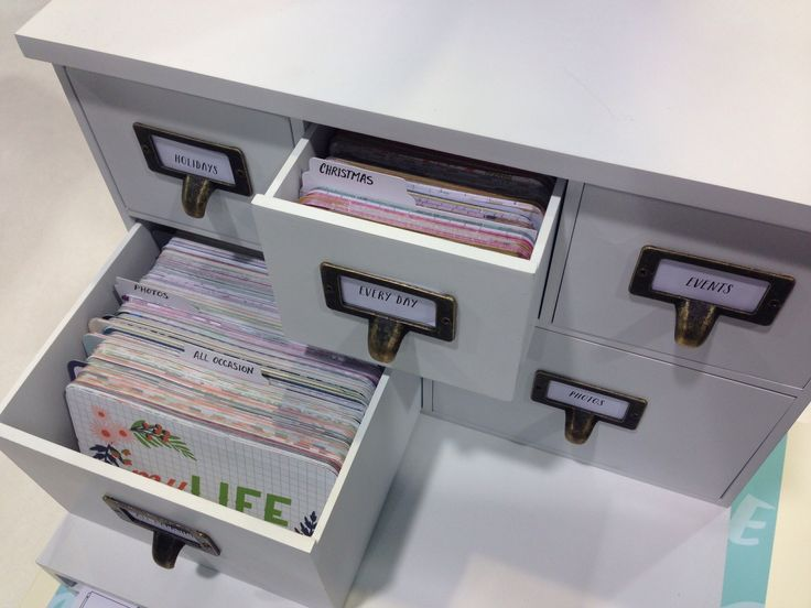 We R Memory Keepers NEW CHA Winter 2014 Albums Made Easy (Project Life) Card Cabinet Organizer - Scrapbook.com