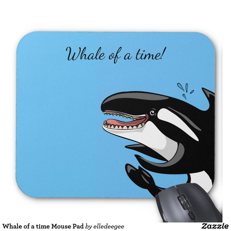Whale of a time Mouse Pad