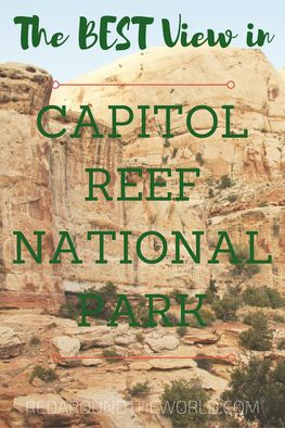 The best view in Capitol Reef