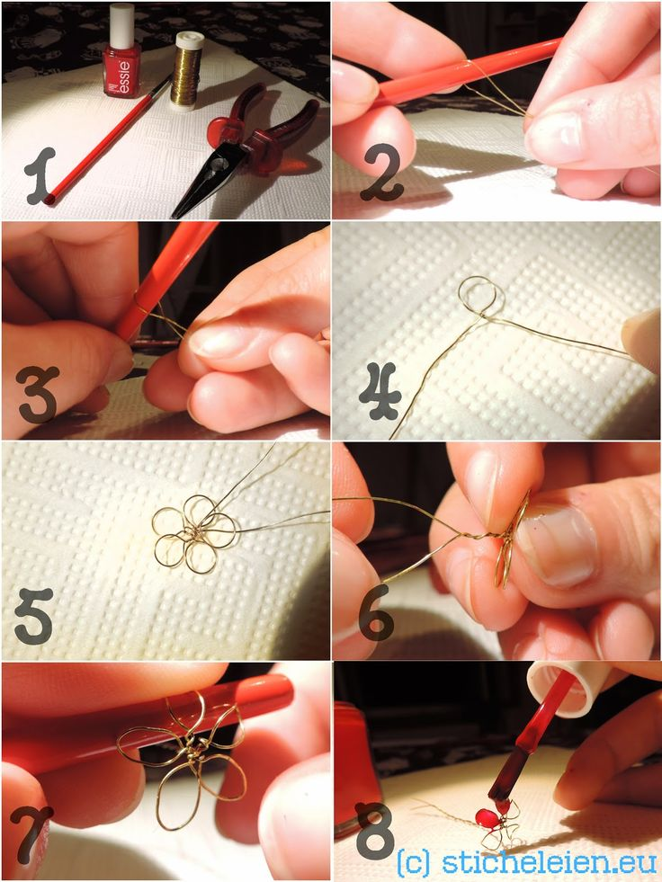 DIY – Art – Craft – Projects — wire flowers made with wire and nail polish – diy