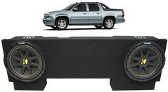 """ASC Package Chevy Avalanche 02-13 Dual 12"""" Kicker C12 Subwoofer Under Seat Sub Box Enclosure 600 Watts Peak - http://www.productsforautomotive.com/asc-package-chevy-avalanche-02-13-dual-12-kicker-c12-subwoofer-under-seat-sub-box-enclosure-600-watts-peak/"""