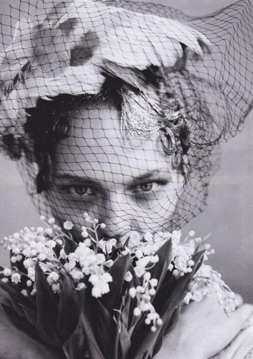 netting: June 2009, Fashion, Weddings, Sasha Pivovarova, Arthur Elgort, Flower, Photography