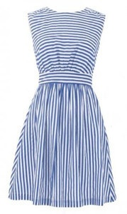 Emily and Fin Blue Stripe Lucy Dress