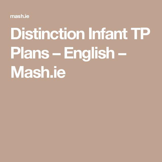 Distinction Infant TP Plans – English – Mash.ie