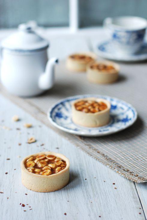 Hazelnut Caramel Tartlet