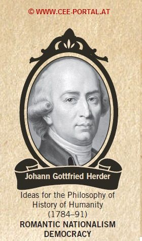 Johann Gottfried Herder 1744-1803 Ideas for the Philosophy of History of Humanity (1784–91) ROMANTIC NATIONALISM