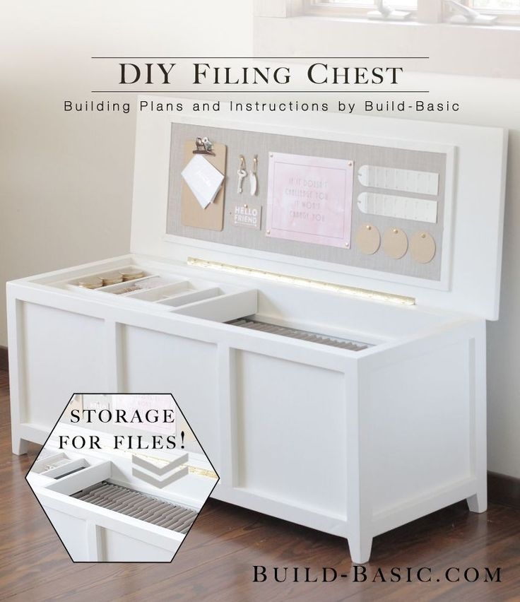 DIY Filing Chest - Our home office is a small space, and our tall, boxy filing cabinet always made it feel extra crowded. To create a solution that didn't sacri...