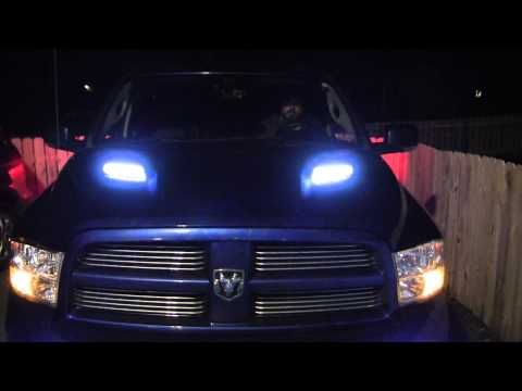2011 dodge ram 1500 sport hood vent led 39 s youtube. Black Bedroom Furniture Sets. Home Design Ideas