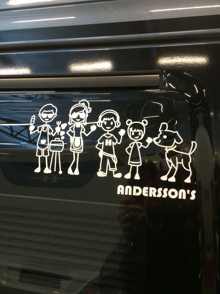 Personal decals caravan