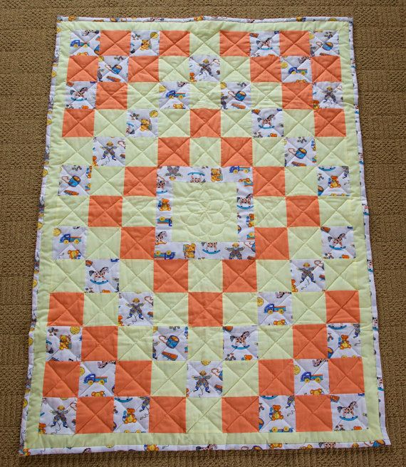 Vintage Baby Quilt by SewingbyApril on Etsy