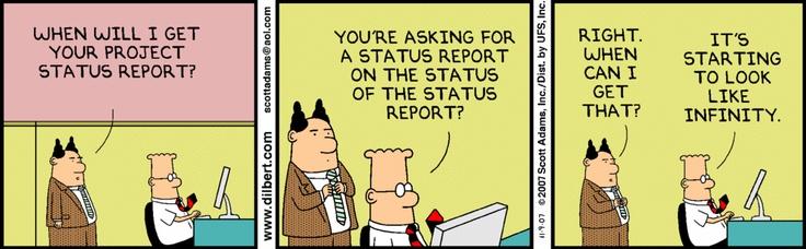 Status report Work stories Pinterest Scott adams - status report template