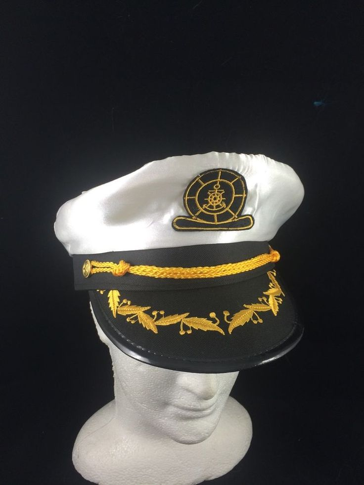 WHITE SAILOR CAP WITH EMBROIDERY