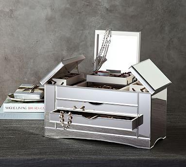 Ultimate Extra-Large Mirrored Jewelry Box #potterybarn