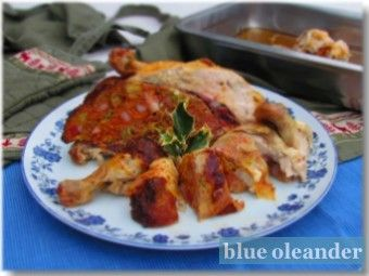 Capon stuffed with minced meat