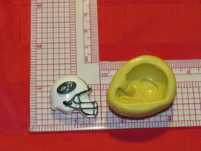 NFL Football New York Jets Helmet Silicone Push Mold 328 Chocolate Candy Cake Decorating by LobsterTailMolds on Etsy
