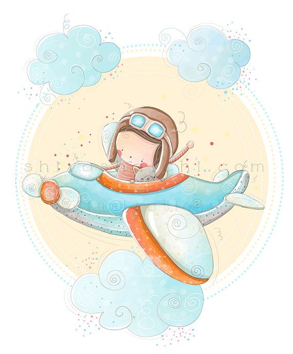 Children Illustration  Nursery  Fly High Up by ShivaIllustrations