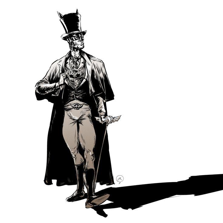 Day 68: Victorian Batman  #mittroshin #illustration #characterdesign #batman #victorian