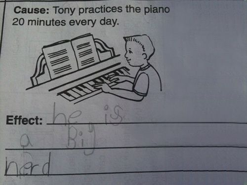 : Kids Ha, The Piano, Test Answers, Kids Sayings The Funniest, Funny Stuff, Funny Or Die, Awesome Fun, Kids Rockthey, Funny Kids