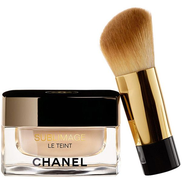 CHANEL Ultimate Radiance-Generating Cream Foundation - Colour Beige 30 (495 RON) ❤ liked on Polyvore featuring beauty products, makeup, face makeup, foundation, chanel face makeup, hydrating foundation, chanel, chanel foundation and moisturizing foundation