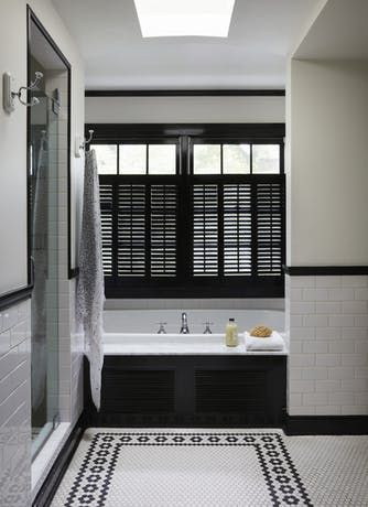 Gorgeous Black And White Bathrooms Part 77