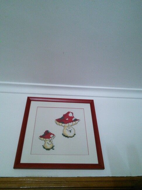 Cogumelos em ponto cruz