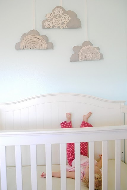 these are perfect for my DD's new bedroom, and re-use of a bazillion doily's i have that my gm made