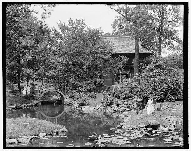 Displaying 1910 Japanese Garden, Fairmount Park, Philadelphia, Ladies  Strolling