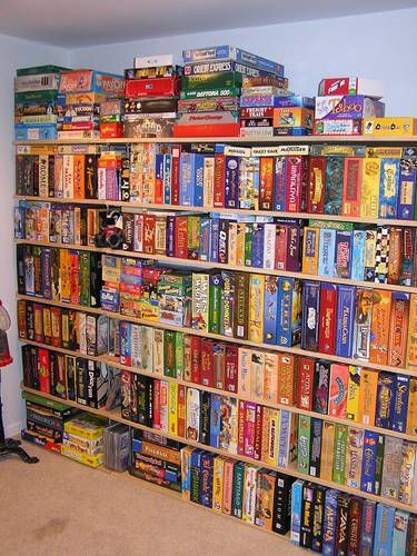 Board games, my daughter and I used to dream we would turn an old school into a home and have one room dedicated to games and collecting them.