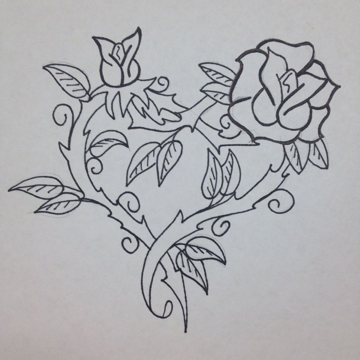 Rose Thorned Heart I Drew